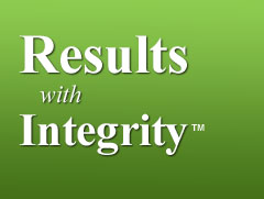 results with integrity banner